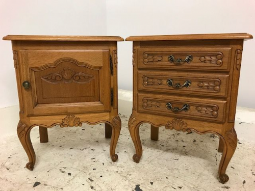 Lovely Pair Of French Bedside Cabinets - b55